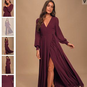 Lulu's Glam Plum Dress